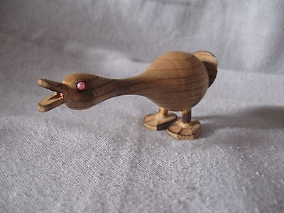 handmade small wooden goose 4""