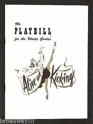 "Gwen Verdon (Debut) ""ALIVE & KICKING"" Jack Cassidy 1950 FLOP Opening Playbill"