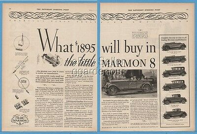 1927 Marmon 8 Motor Car Indianapolis IN All Models Vintage 1920s Automobile Ad