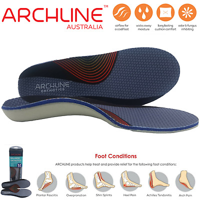 ARCHLINE Orthotics Insoles Balance Full Length Arch Support Medical Pain Relief