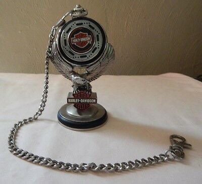 HARLEY-DAVIDSON - AMERICAN CLASSIC-POCKETWATCH with EAGLE DISPLAY STAND