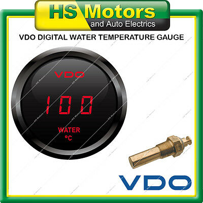 VDO Cockpit Digital Water Temperature Coolant Temp Gauge 52mm 12v with Sender