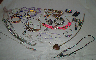 Bulk Lot Of Assorted  Costume/fashion Jewellery ~ All Wearable Not Scrap