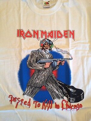 Iron Maiden - Chicago 1987 Event T-Shirt (L), Somewhere on Tour (USA Tour)