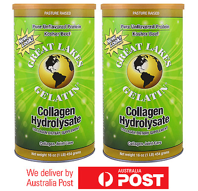 2x Great Lakes Gelatin Co., Collagen Hydrolysate, Joint Care, Beef, 16 oz 454g