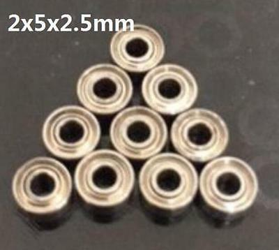 10pcs MR52zz 2x5x2.5mm Open Miniature Bearings ball Mini Hand Bearing Spinner ✿