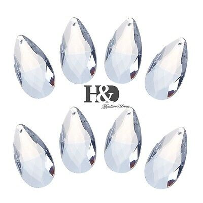 10pcs 50mm Clear Crystal Chandelier Prisms Parts Drops Ceiling Cant Grid Pendant