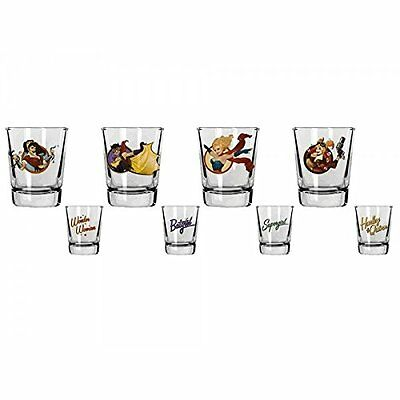 SD toys - Set 4 Verres Shooter DC Bombshells - 8435450201950