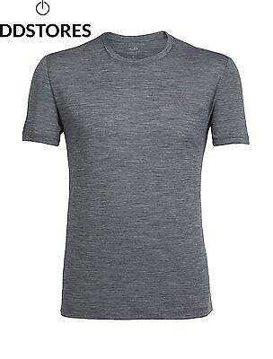 Icebreaker Tech Lite T Shirt Manches Courtes Homme, Gris Gritstone Heather ,...