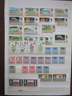 Channel Islands - 42 MNH stamps + 4 hinged mint + 12 used/CTO - see pictures