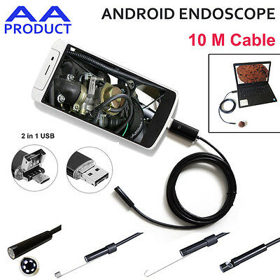 8MM 6-LED Pipe Inspection USB Camera Endoscrope Borescope for Android Phone IP66