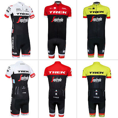 New Mens Cycling Bike Bicycle Short Sleeve Clothing Jersey And Bib Shorts Suits