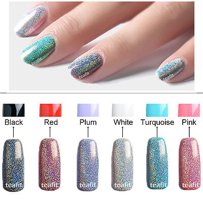 Rainbow Laser Holo Chrome Holographic Pigment Powder Nail Sponge Stick Mirror