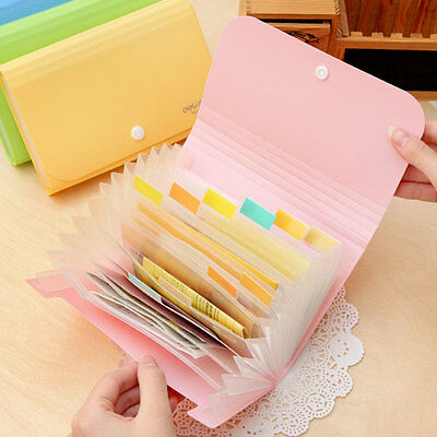 Organised folder classification system file colourful check note money bank new