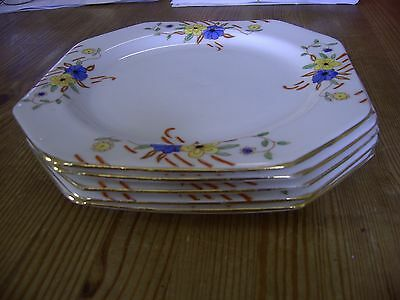 Royal Stafford.  Mavis 6379. Bone China.5 Side Plates. Gold rims 18cm. Excellent