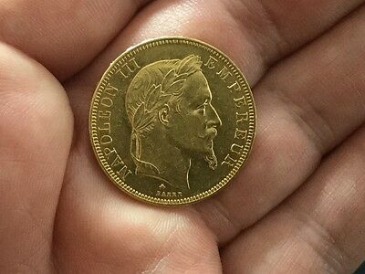 ** 50 frs OR Napoleon III tête laurée 1867 A**