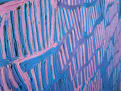 1200mm blue pink Aboriginal  art  painting insects by Jane authentic COA