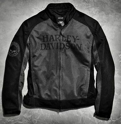 Harley-Davidson Men's Skull Mesh Riding Jacket - 98092-15VM/000M