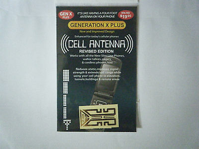 Mobile phone signal booster by generation x. works on all phones