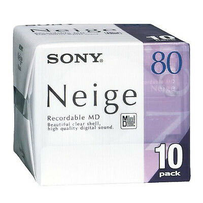 SONY Neige Series MiniDisk Recordable MD 80 Minutes Pack 10 New from Japan