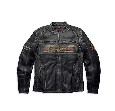 Genuine Harley Davidson Leather Astor Black Jacket 97122-16VM/002L XL