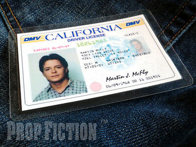 Back to the Future - BTTF Marty McFly California Driver Licence Prop ID Card