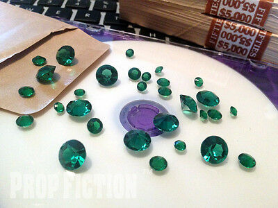 Movie Prop Emerald Set - Film Prop Faux / Fake Green Emeralds / Display Gems