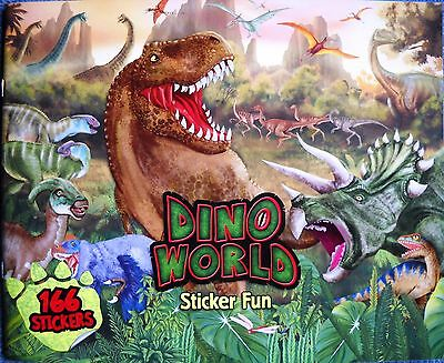 Sticker Fun - Dino World Stickerbuch 166 Stickers Dinosaurier Spaß Beschäftigung