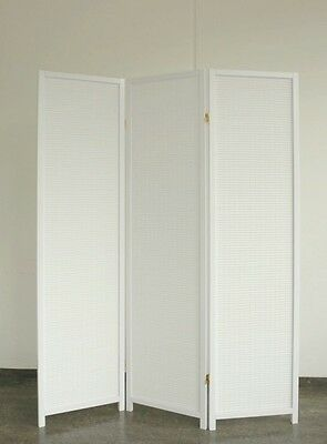 Screen White Wood 3 Pieces White, 100% Screen NEW Paravents by Cilios