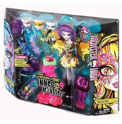 New Monster High Inner Monster Eek Excited & Shivering Sad Deluxe Pack Exclusive