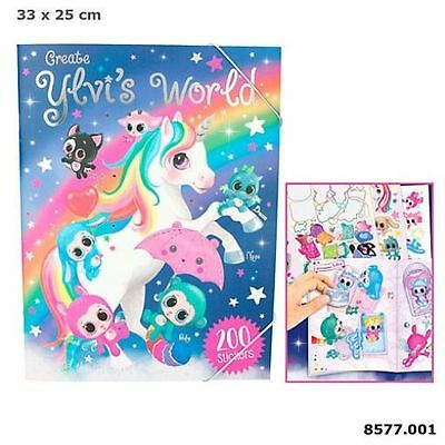 Create Ylvi's World Activity Book - 200 Sticker Einhorn Einhörner Stickeralbum