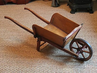 Delightful Antique French Childrens Wheel Barrow. Garden Planter, Shop Display.