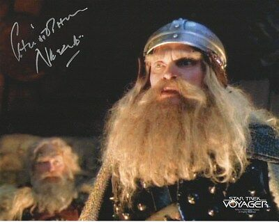 Christopher Neame Star Trek Voyager Hand Signed Autographed Photo Uacc Rd 288