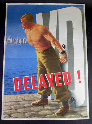 US Army - Safer Sex Plakat - Delayed - Franz O. Schiffers 1946