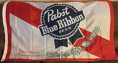 Pabst Blue Ribbon Flag Banner 3X5  Pbr New In Plastic