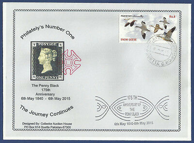 Pakistan Special Cover 175Th Anniversary Penny Black The Journey Continues 2015