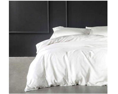 Plain Duvet Cover with Pillowcase Quilt Cover Bed Set  - Single Double King Size