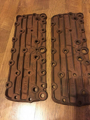 FEDERAL-MOGUL Thermo-Flow V8 Ford Cylinder heads. Bronze/Copper alloy