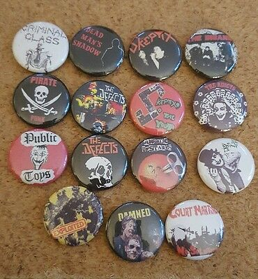 15 Punk button pin lot5 skeptix adicts defects public toys criminal class not lp