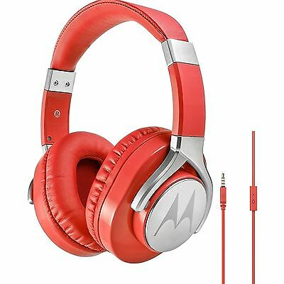 Motorola Pulse Max Ultra Lightweight Over-Ear Wired DJ-Style Headphones - Red