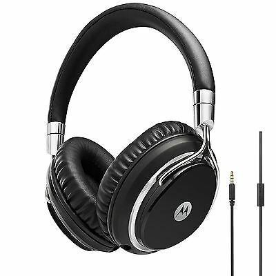 Motorola Pulse M Series Premium Designer Over-Ear Wired Headphones + Microphone
