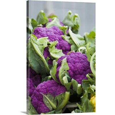 Premium Thick-Wrap Canvas Wall Art entitled Purple cauliflower
