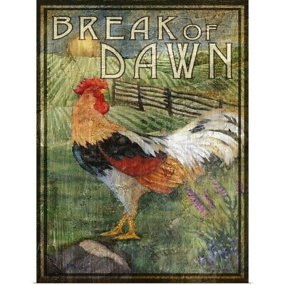 Poster Print Wall Art entitled Rooster Signs IV
