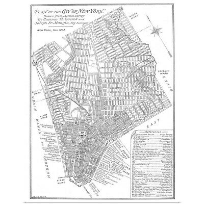 Map Of New York City 1803 Poster Print
