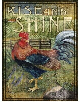Poster Print Wall Art entitled Rooster Signs II