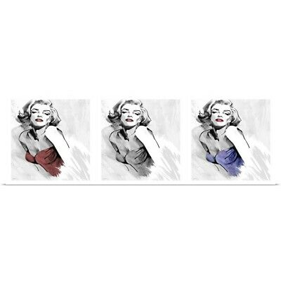 Marilyn Monroe CLASSIC WORKOUT Three-Shot Triptych Fitness POSTER Print