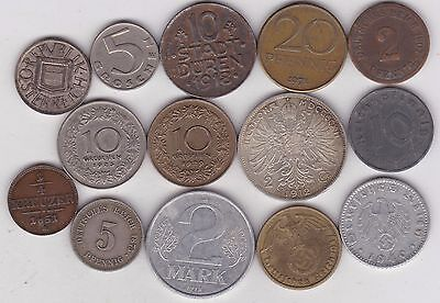 14 Coins From Austria & Germany Dated 1851 To 1971 In Good Fine Condition