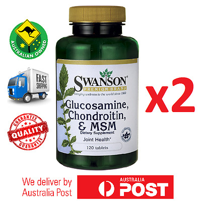 2x Glucosamine, Chondroitin & MSM 250/200/150 mg 240 Tablets by Swanson Premium
