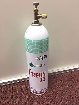 R22 R-22 Refrigerant 22, Recharge Kit, LARGE 35 oz. Can, Taper & Brass Cap