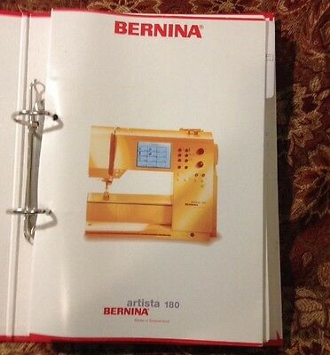 Genuine bernina instruction sewing manual for virtuosa 150 qe genuine bernina embroidery and sewing instruction manual binder for artista 180 fandeluxe Images